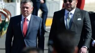 Mohammed VI du Maroc (g) et Abdallah II de Jordanie - 11 mars au Maroc (Crédit : AFP)