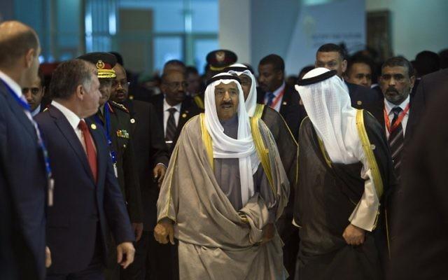L'émir du Koweit à la conférence égyptienne à Charm el Cheikh - 13 mars 2015 (Crédit : AFP)