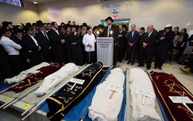 Les 7 enfants de la famille Sassoon qui ont péri dans l'incendie de Brooklyn (Crédit : Flash 90)