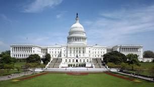Le Capitole à Washington qui sert de siège au Congrès (Crédit : domaine public)