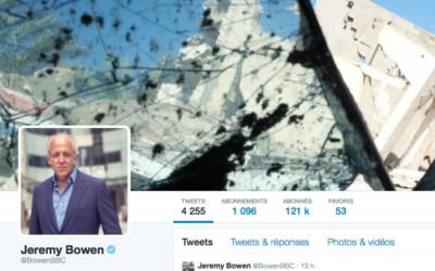 Capture d'écran de la page Twitter de Jeremy Bowen