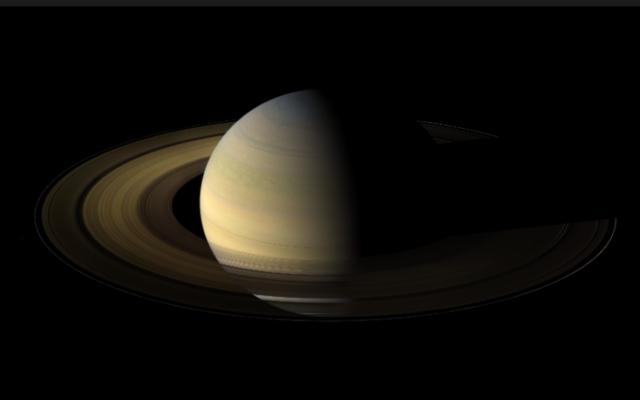 Illustration de la planète Saturne (Crédit : NASA CICLOPS/Domaine public)