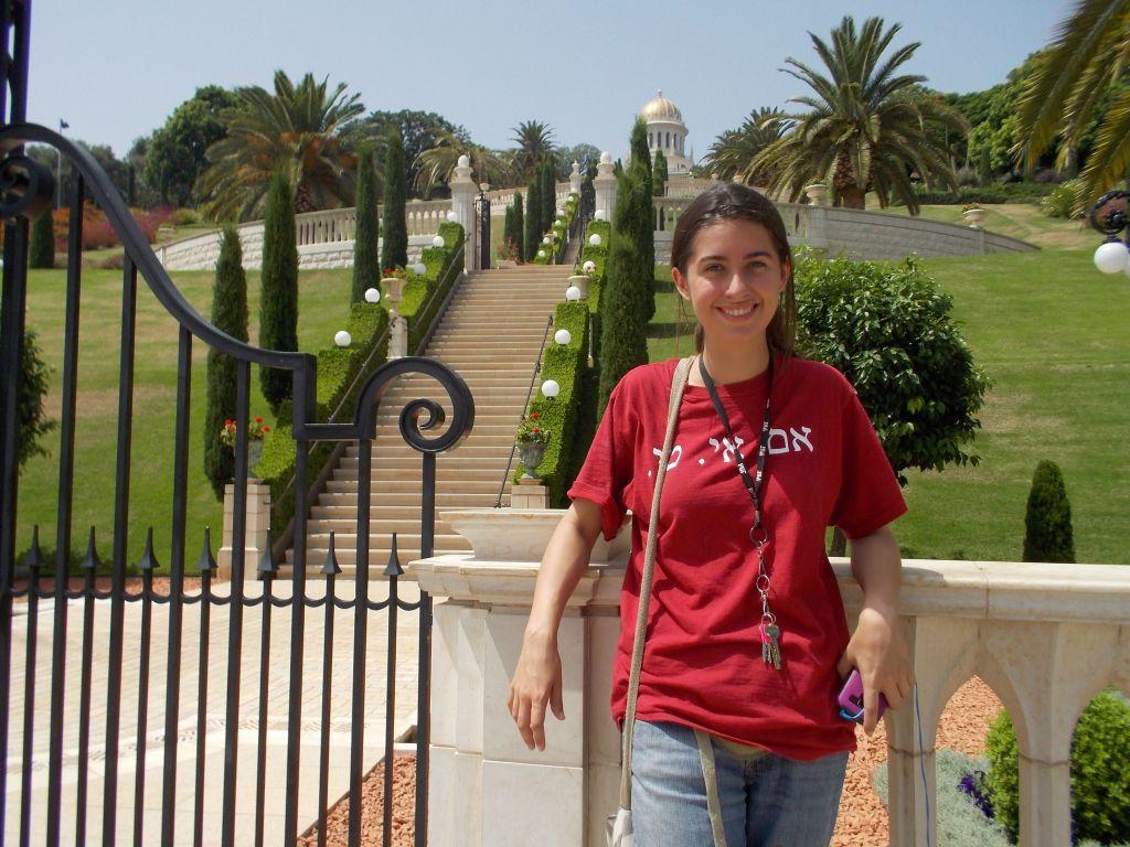 Caroline Morganti, une étudiante au MIT, qui sert de coordonnatrice en communication à Open Hillel, à Haïfa, en Israël. (Crédit : Autorisation)