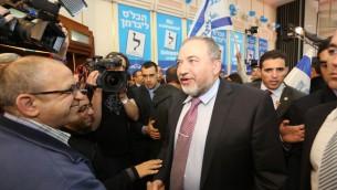Avigdor Liberman - 17 mars 2015 (Crédit : Yossi Zamir/FLASH90