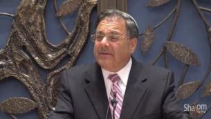 Le rabbin Shlomo Riskin, à la Lincoln Square Synagogue (Capture d'écran Youtube/JBS)