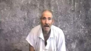 Capture d'écran d'une vidéo montrant Robert Levinson en novembre 2010. (Crédit : capture d'écran Youtube / HelpBob Levinson)
