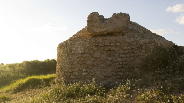 L'ancien puis en pierre nommé Marva Babayan (Crédit : Judah Ari Gross/Times of Israel)