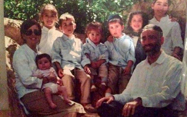 La famille Sassoon ; sept des huit enfants ont péri lors de l'incendie de la maison familiale, samedi 21 mars 2015 (Crédit : Autorisation).