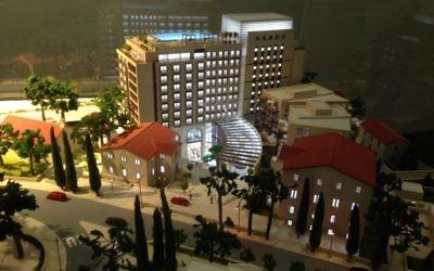 Une maquette du complexe d'appartement et hotelier d'Isrotel (Crédit : Autorisation)