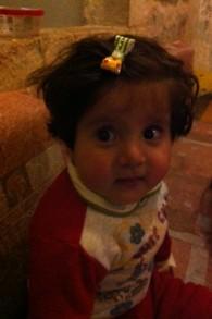 La petite Chrétienne irakienne de 18 mois, Maryam au siège de Shevet Achim à Jérusalem en février 2015 (Crédit : Lazar Berman/Times of Israel)