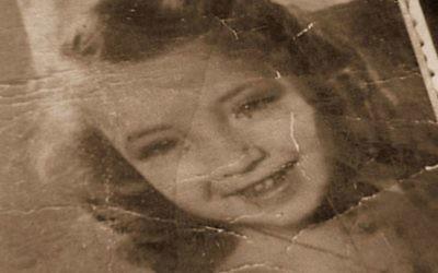 """Une enfant victime d'abus sexuels pendant l'Holocauste. Du film documentaire """"Screaming Silence"""". (Crédit : Autorisation)"""