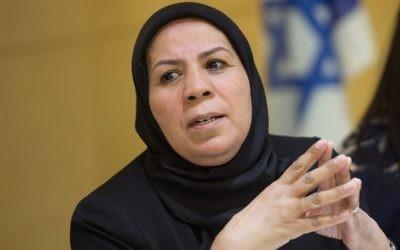 Latifa Ibn Ziaten à l'ambassade d'Israël en France. (Crédit : AFP)