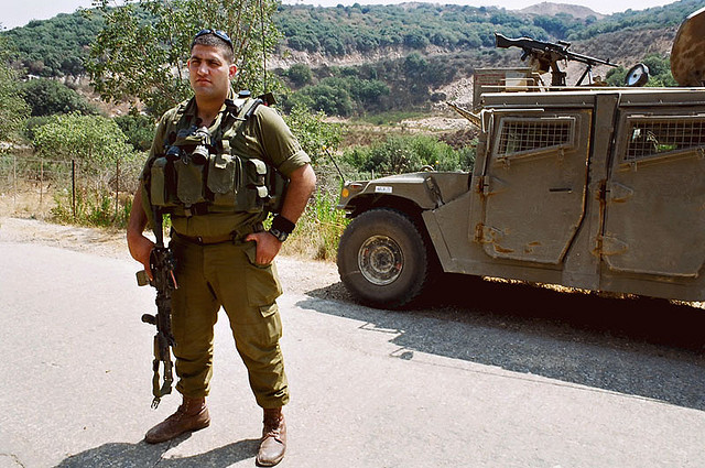 Un soldat de 'Herev', l'unité de Tsahal exclusivement druze (Crédit : CC BY-kickasso / Flickr)