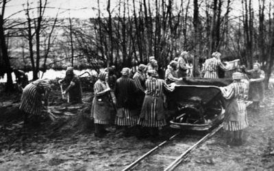 Le camp de concentration de Ravensbrück  en 1939. (Crédit : Bundesarchiv, Bild, via Wikimedia Commons)