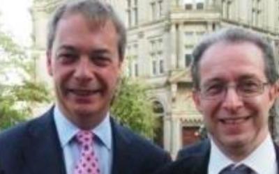 Capture d'écran Nigel Farage (g) et Jeremy Zeid (Crédit : Facebook)