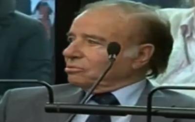 Capture d'écran Carlos Menem (Crédit : YouTube)