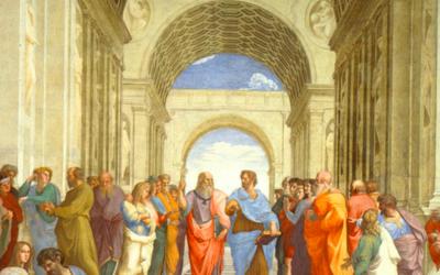 L'école d'Athènes représentée par Rafael (Crédit : Gemeinfrei/Domaine public)