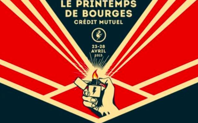 Capture d'écran de l'affiche du festival du Printemps de Bourges