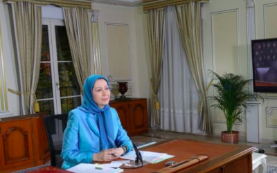 Capture d'écran Maryam Rajavi (Crédit : https://twitter.com/Maryam_Rajavi