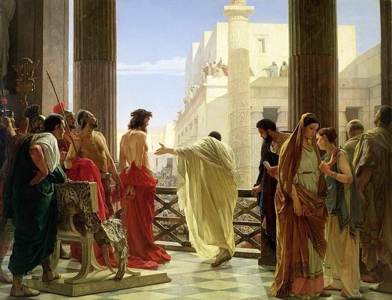 Pilate présente Jésus, Ecce homo (Voici l'homme) par Antonio Ciseri, 1871