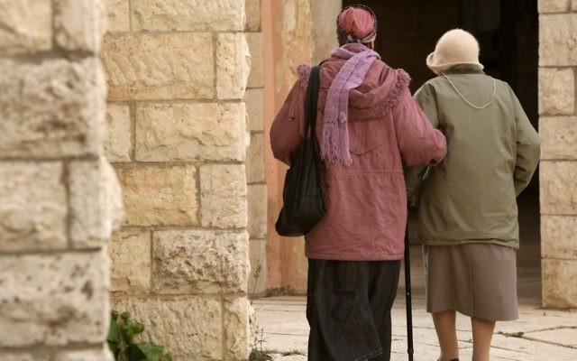 Une survivante de l'Holocauste (Crédit : Kobi Gideon / Flash90)