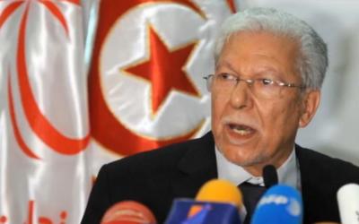 Le ministre tunisien des Affaires étrangères Taïeb Baccouche (Crédit : Capture d'écran/YouTube/ FranceMaghreb2)