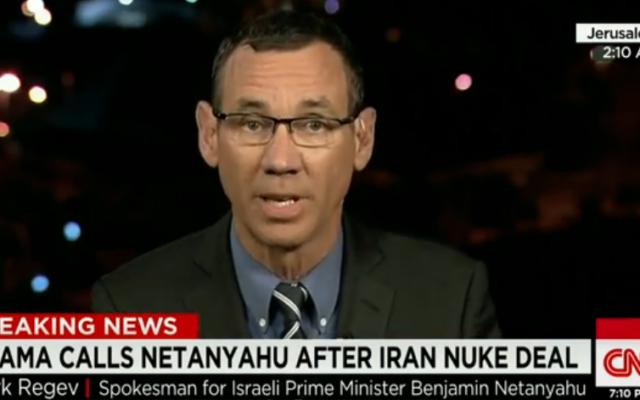 Le porte-parole du Premier ministre, Mark Regev (Crédit : Capture d'écran YouTube/CNN)