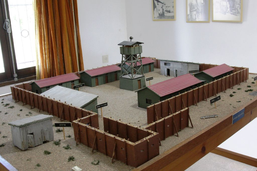 A model of the early Shavei Zion settlement (photo credit: Shmuel Bar-Am)