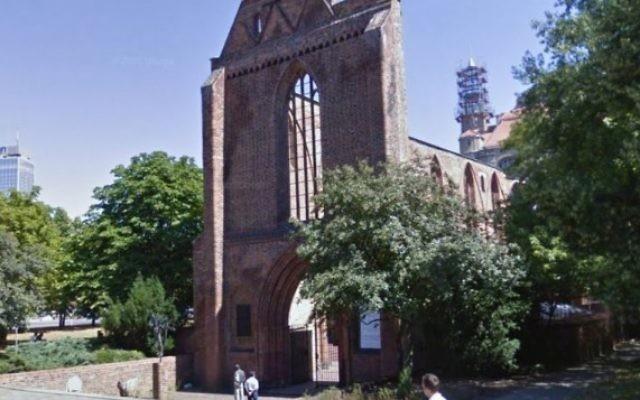 Le monastère franciscain sur la Rue Gruner, à Berlin, où a été découvert le corps d'un homme qui pourrait être un Israélien , avril 2015  (Capture d'écran: Google maps)