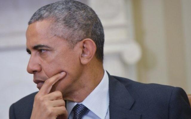 Le président américain Barack Obama dans le bureau ovale de la Maison Blanche le 14 avril 2015 à Washington . (Crédit photo: AFP / MANDEL NGAN)