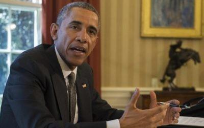 Le président américain Barack Obama s'adresse à la presse, à la Maison Blanche, le 31 mars 2015.  (Crédit photo: AFP / JIM WATSON)