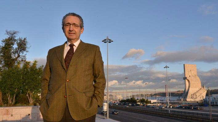 José Ribeiro e Castro, un député portugais qui a coécrit la loi sur le retour pour les Juifs séfarades (Crédit : Cnaan Liphshiz / JTA)