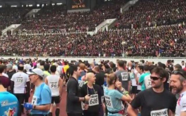 Des coureurs étrangers participent au marathon annuel de Corée du Nord (Crédit photo: capture d'écran YouTube)