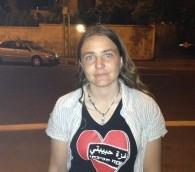 L'étudiante Sahar Vardi de Jérusalem  (Crédit photo: Elhanan Miller / Times of Israel)