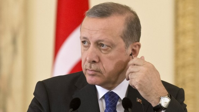 Le président Erdogan en avril 2015 (Crédit :  AFP PHOTO / DANIEL MIHAILESCU)