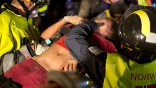 Lors du sauvetage de Krishna Khadka, le 30 avril (Crédit : AFP PHOTO / MENAHEM KAHANA)