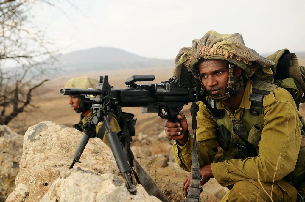 Un soldat éthiopien de la brigade Nahal dans le plateau du Golan (Crédit : Unité de Nir Gal / porte-parole IDF)