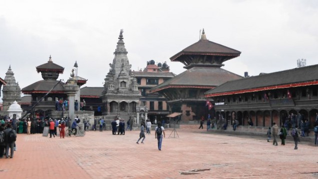 Une vue de la square Durbar à Bhaktapur avant le séisme du 25 avril (Crédit : Flickr Creative Commons)