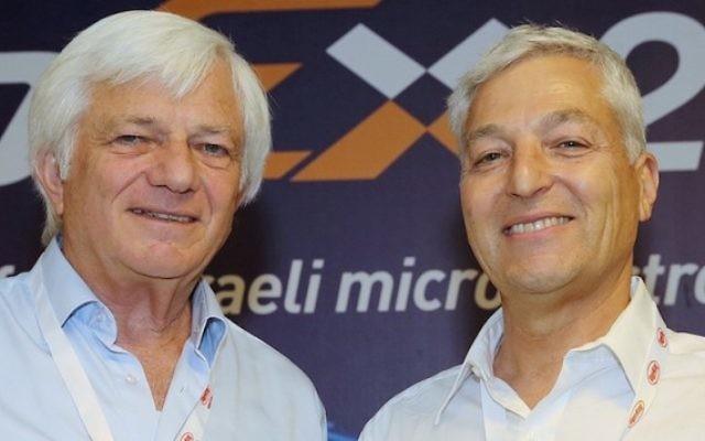 Shmuel Barkan (à gauche) et Shlomo Gradman à ChipEx2015 (Crédit Photo: Autorisation)