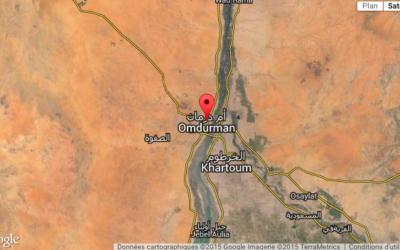 La géolocalisation de l'endroit de la frappe qui se serait produite  au Soudan