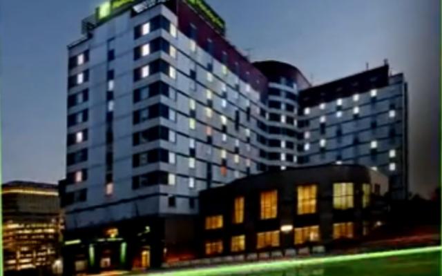 Capture d'écran de l'hôtel Lesnaya à Moscou (Crédit : yotube)