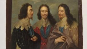 Charles I dans trois positions ou Triple portrait de Charles I (Crédit : Autorisation Monument Men Foundation)