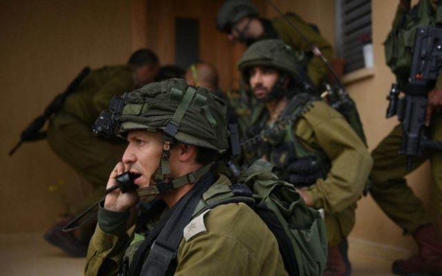 Entrainement de soldats de Tsahal de la Division de la frontière de Gaza, le 22 mars 2015 (Crédit photo: Porte-parole de Tsahal)