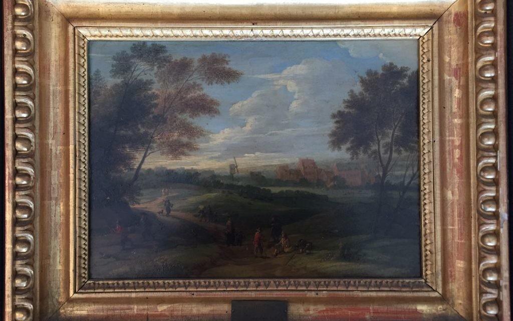 L'une des œuvres restituées est celle de Franz de Paula Ferg (1689 – 1740) Landscape with Staffage (Crédit : Autorisation Monument Men Foundation)