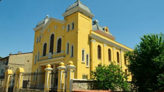 La Grande Synagogue d'Edirne, en Turquie  (Crédit : CC-BY-SA CeeGee/Wikimedia Commons)