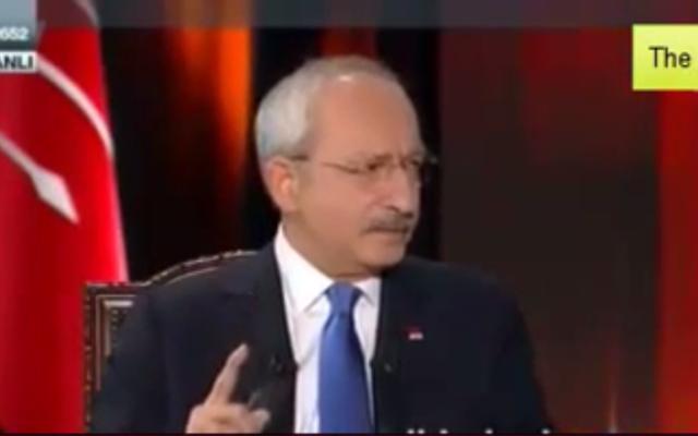 Kemal Kiliçdaroglu (Crédit : Capture d'écran YouTube)