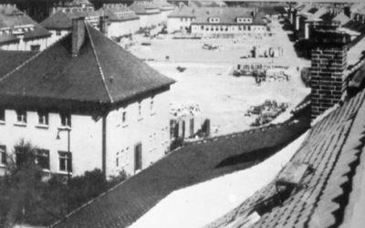 Le camp de Bergen-Belsen DP à la fin des années 1940. (Crédit : autorisation de Jean Bloch Rosensaft)