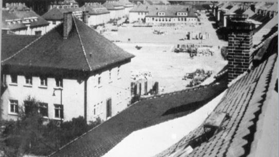 Le camp de Bergen-Belsen DP à la fin des années 1940. (Crédit : Autorisation de Jean Bloch Rosensaft