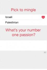 Les utilisateurs s'identifient comme étant soit israélien ou Palestinien. (Crédit : Autorisation)