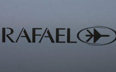 Le logo de Rafael (Crédit : Tsahi Ben-Ami / Flash 90)